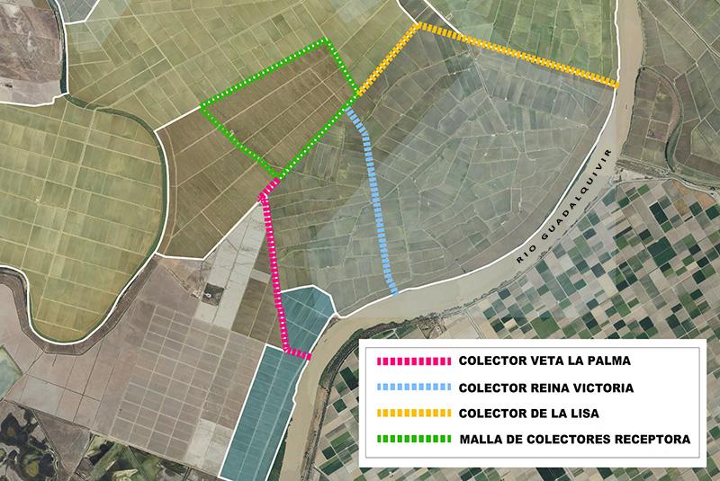 Mejora de desagües en zona arrocera de margen derecha sur del Guadalquivir